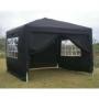 Easy up tent zwart huren – Partytentverhuur Stedendriehoek